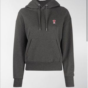 AMI SMALL A HEART POPOVER HOODIE